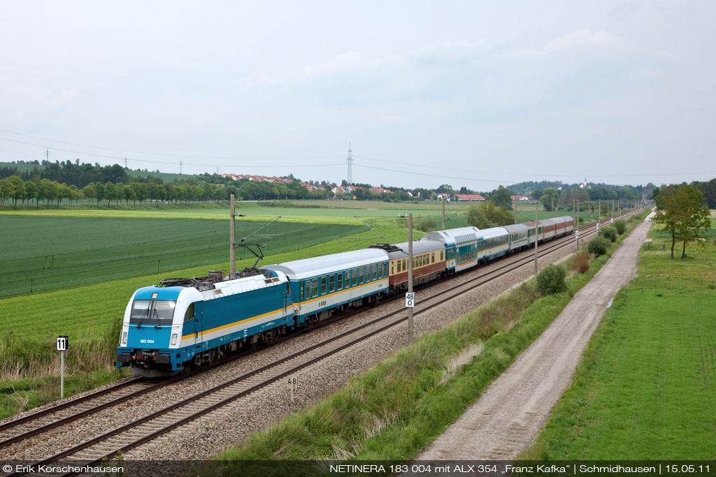 Zug Regensburg Prag